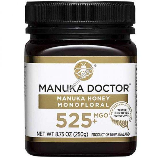 """דבש מאנוקה מונופלורל MGO 525 מכיל 250 גרם - מאנוקה ד""""ר"""