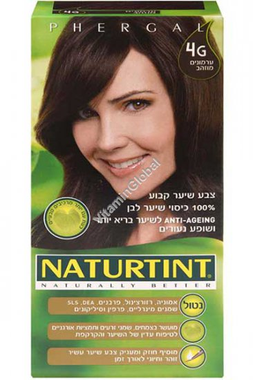 צבע שיער קבוע, גוון ערמונים מוזהב 4G - נטורטינט