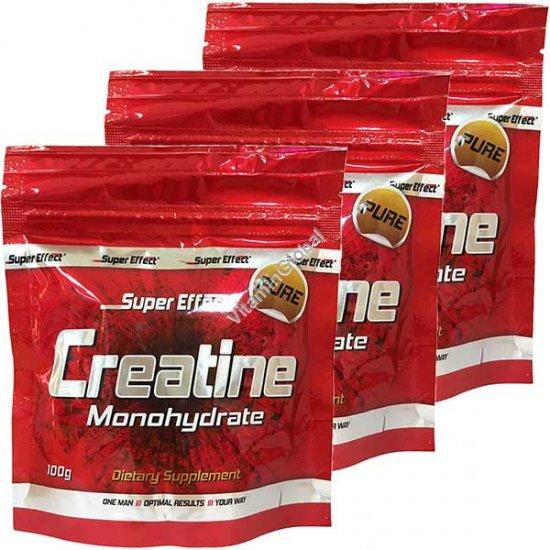 """אבקת קריאטין מונוהידרט 300 גרם 3 יח של 100 גרם כ""""א - סופר אפקט"""