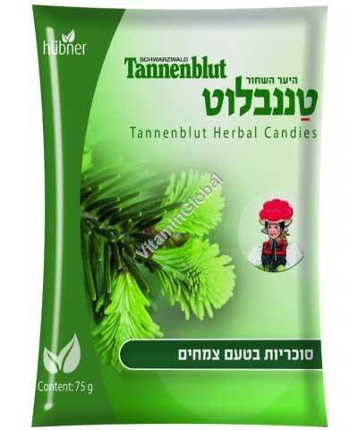 טננבלוט - סוכריות בטעם צמחים להקלה של כאבי גרון 75 גרם - הובנר