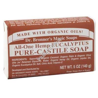 "סבון טבעי אקליפטוס 140 גרם - ד""ר ברונר"