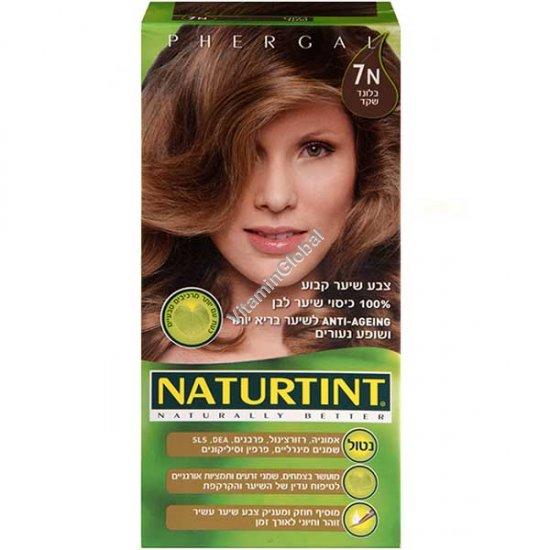 צבע לשיער גוון בלנד שקד 7N - נטורטינט