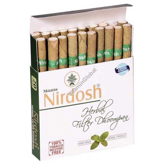 סיגריות צמחיות ללא טבק וללא ניקוטין 20 סיגריות עם פילטר - נירדוש