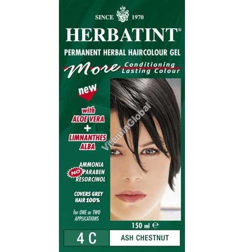צבע לשיער גוון מהגוני ערמוני אפרפר 4C - הרבטינט
