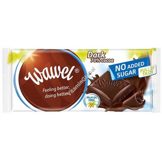 שוקולד מריר 70% קקאו ללא תוספת סוכר 100 גרם - וואוול