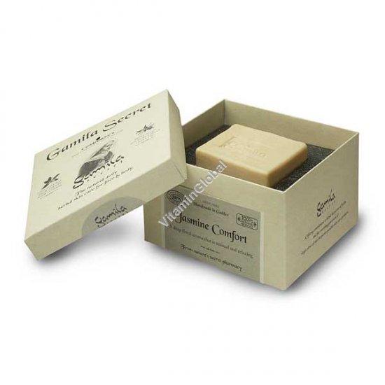 סבון טבעי יסמין לרחצה ולטיפוח 115 גרם - סבתא ג`מילה