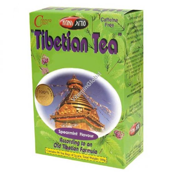 תה טיבטי בטעם נענע 90 שקיות - סודות המזרח