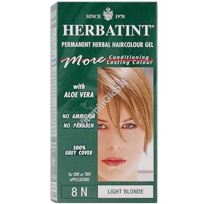 צבע לשיער גוון בלונד בהיר (8N) - הרבטינט