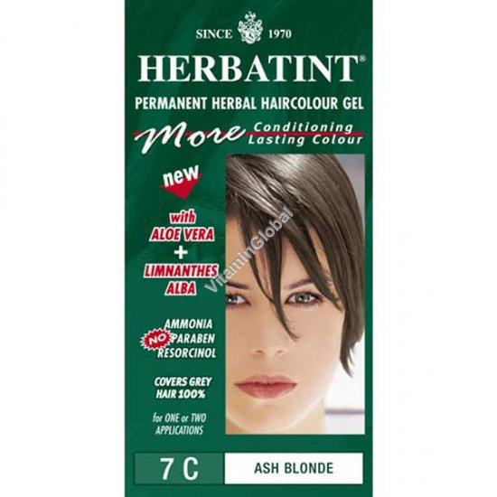 צבע לשיער גוון מהגוני בלונד אפרפר 7C - הרבטינט