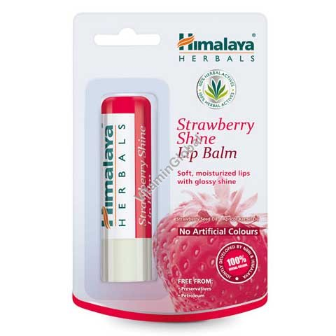 שפתון מזין, מרכך בגוון תות עדין 4.5 גרם - הימלאיה