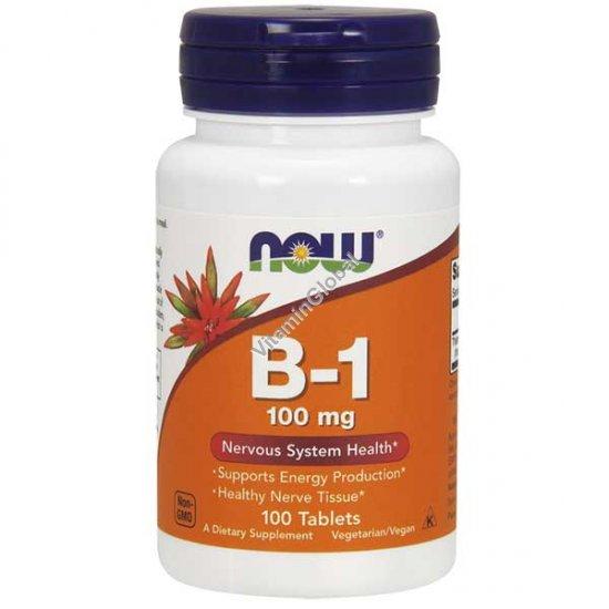"""ויטמין B1 (תיאמין) 100 מ""""ג 100 טבליות - נאו פודס"""