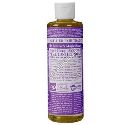 """סבון טבעי נוזלי לבנדר 472 מ""""ל - ד""""ר ברונר"""