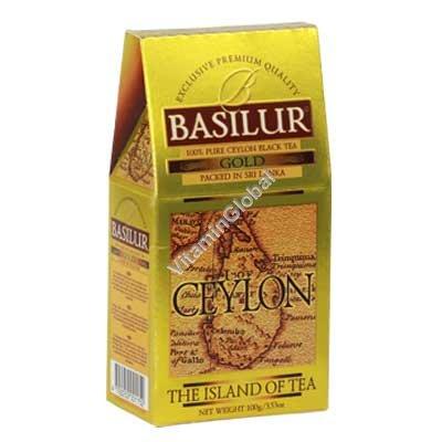 """פרימיום תה שחור גולד """"אי צילון"""" 100 גרם - בסילור"""