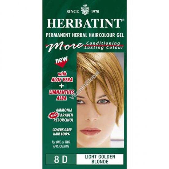 צבע לשיער גוון בלונד מוזהב בהיר (8D) - הרבטינט