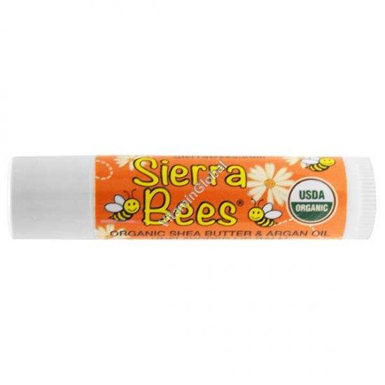 שפתון אורגני ללא טעם וריח עם שמן שיאה ושמן ארגן 4.25 גרם - סיירה ביז