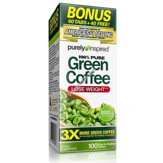 תמצית קפה ירוק 100 טבליות - Purely Inspired