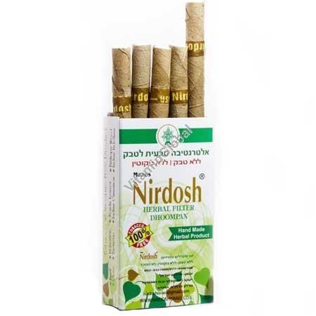 סיגריות צמחיות נטולות טבק ונטולות ניקוטין 10 סיגריות עם פילטר - נירדוש