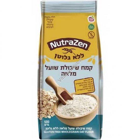 קמח שיבולת שועל מלאה ללא גלוטן 500 גרם - נוטרה זן