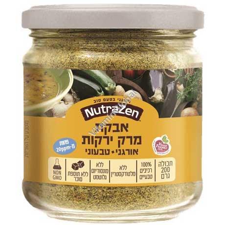 אבקת מרק ירקות טבעוני אורגני 200 גרם - נוטרה זן