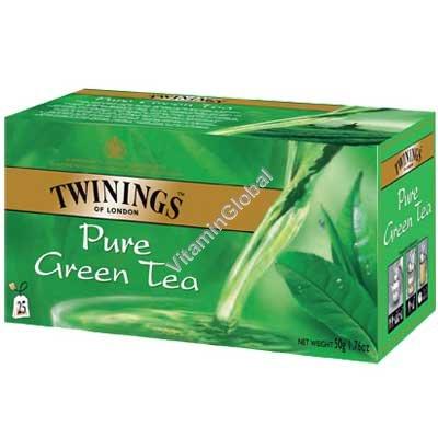 תה ירוק טהור 25 שקיקים - טווינינגס