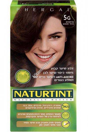 צבע שיער קבוע, גוון ערמונים בהיר מוזהב 5G - נטורטינט