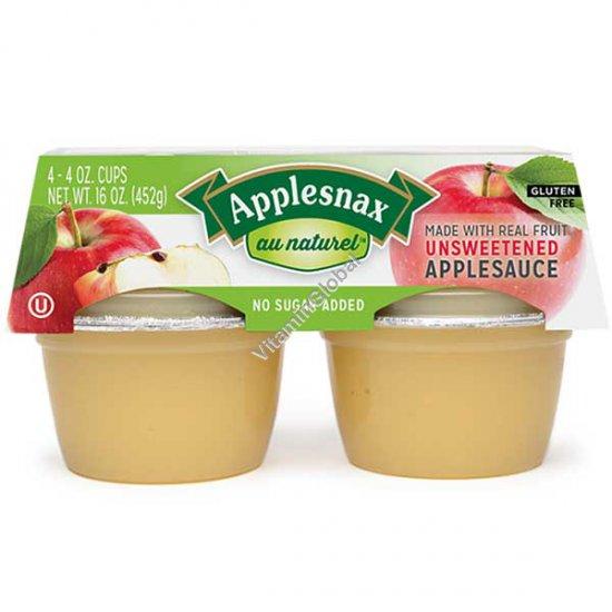 רסק תפוחי עץ ללא תוספת סוכר 452 גרם (4X113 גרם) - אפלסנקס