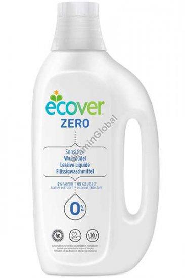 אקובר זירו - נוזל כביסה לעור רגיש ללא בישום וללא צבע 1.5 ליטר - אקובר