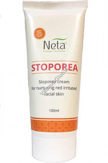 """קרם סטופוריאה לעור פנים אדמומי, מגורה ורגיש 100 מ""""ל - נטע רוקחות מהטבע"""