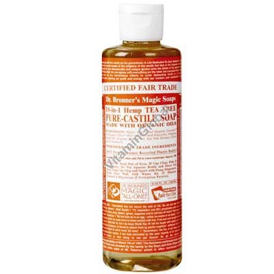 """סבון טבעי נוזלי עץ התה 472 מ""""ל - ד""""ר ברונר"""