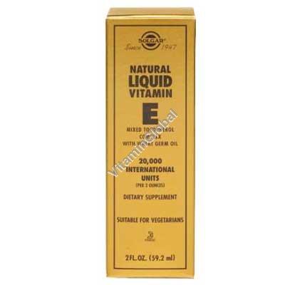 "ויטמין E טבעי נוזלי 59.20 מ""ל - סולגאר"