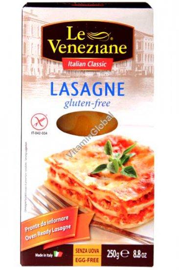 עלים להכנת לזניה מקמח תירס ואורז ללא גלוטן 250 גרם -לה ונציאן