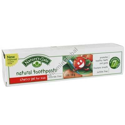 משחת שיניים טבעית לילדים בטעם דובדבן 141 גרם - נייטצ\'ורס גייט