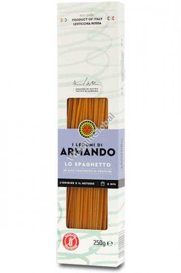 ספגטי ללא גלוטן מקמח עדשים אדומות 250 גרם - ארמנדו