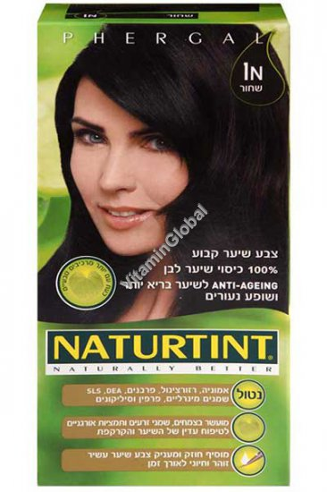 צבע שיער קבוע, גוון שחור 1N - נטורטינט