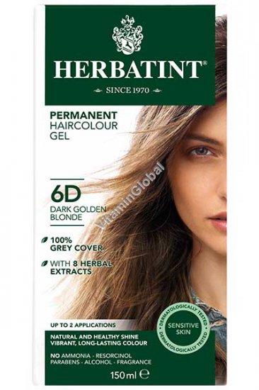 צבע לשיער גוון בלונד מוזהב כהה (6D) - הרבטינט