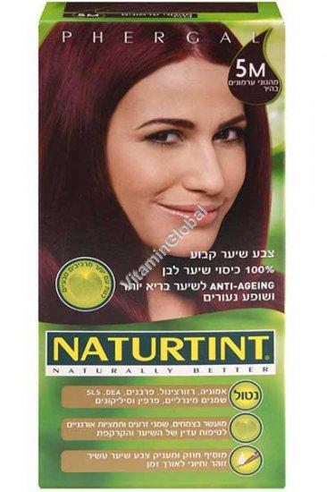 צבע שיער קבוע, גוון מהגוני ערמונים 5M - נטורטינט