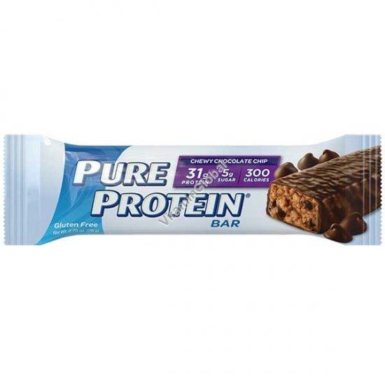 חטיף חלבון ללא גלוטן שוקולד צ`יפס 78 גרם - וורלדוואיד
