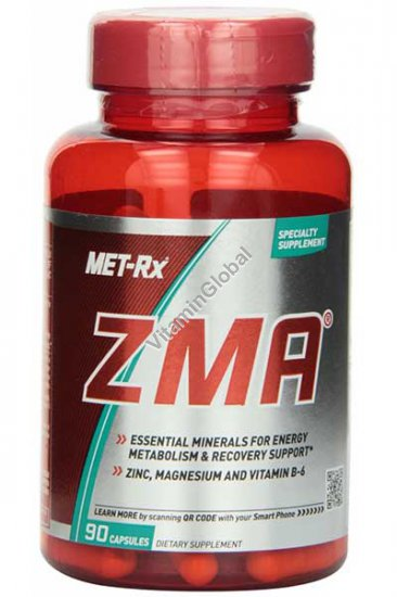 ZMA - לפעילות אנאבולית של השרירים 90 כמוסות - מטרקס