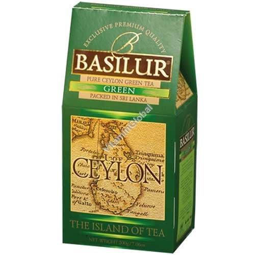 """פרימיום תה ירוק """"אי צילון"""" 100 גרם - בסילור"""