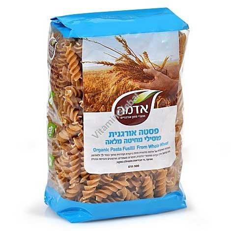 פסטה פוסילי מקמח מלא אורגני 500 גרם - אדמה