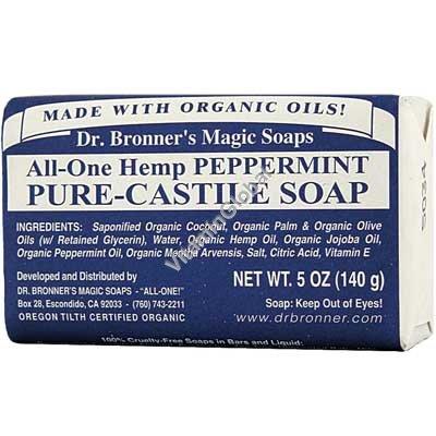 """סבון טבעי מנטה 140 גרם - ד""""ר ברונר"""