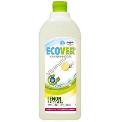 נוזל טבעי לניקוי כלים לימון אלוורה 1 ליטר - אקובר