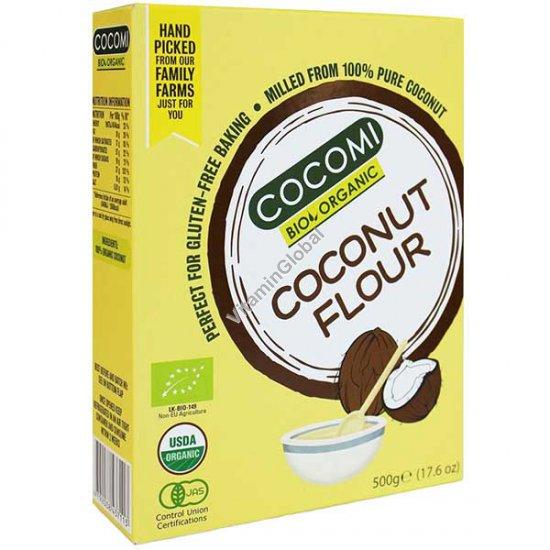 קמח קוקוס אורגני ללא גלוטן 500 גרם - קוקומי